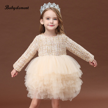 Girls' dress in autumn 2019 new foreign style children's autumn girls' dress in autumn and winter