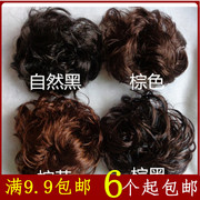 Korean hair wig large rolls bride hair styling bouffant hair bag head meatballs hair circle of children