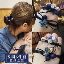 Head rope Female simple Korean cute small fresh leather case Net red ins hair ring rubber band hair rope tie hair headdress