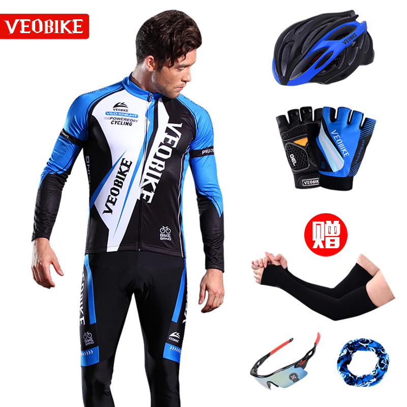 Customized Summer Cycling Suit Long Sleeve Men's Spring and Autumn Mountain Bike Equipment Cycling Trousers and Trousers for Women