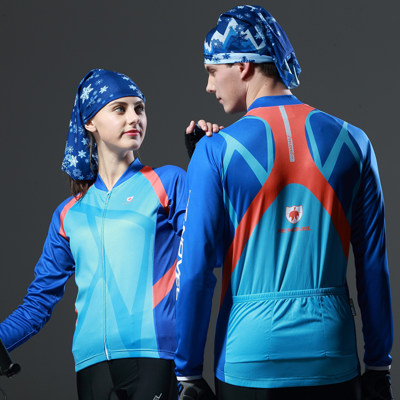 The new FE-NOVEL summer long-sleeved Jersey suit men and women mountain bike clothing custom-made genuine