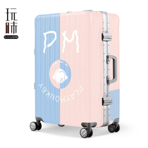 Taste Suitcase Student Korean Password Box, Pole Box, 20-inch Boarding Box, Female Suitcase, Universal Wheel, 24 Cases