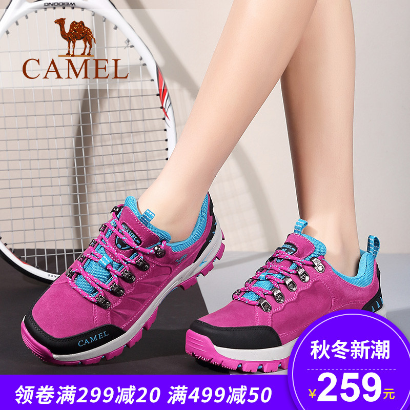 Camel camel women's shoes spring sports shoes ladies slip wear lace fashion casual shoes hiking shoes
