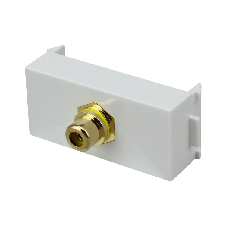 Beiqiao N86-609H coaxial welding module gold-plated 5.17.1 digital audio RCA analog video socket
