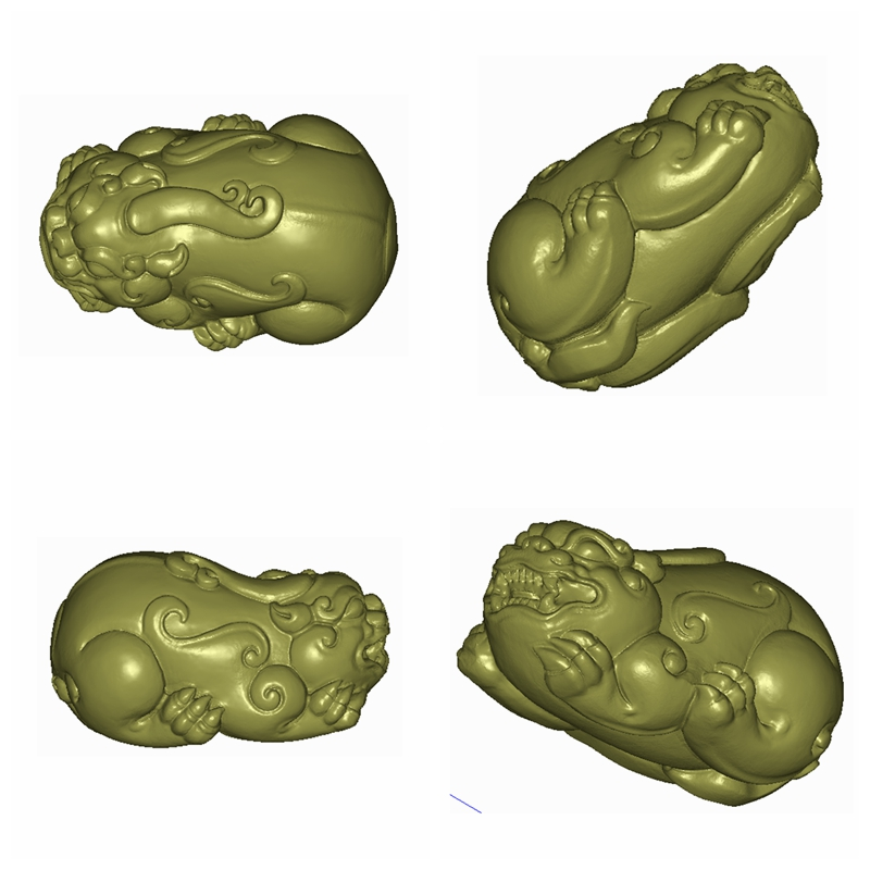 Fine carving 3-D solid 3D STL round carving jade carving animal raccoon carving Figure 4