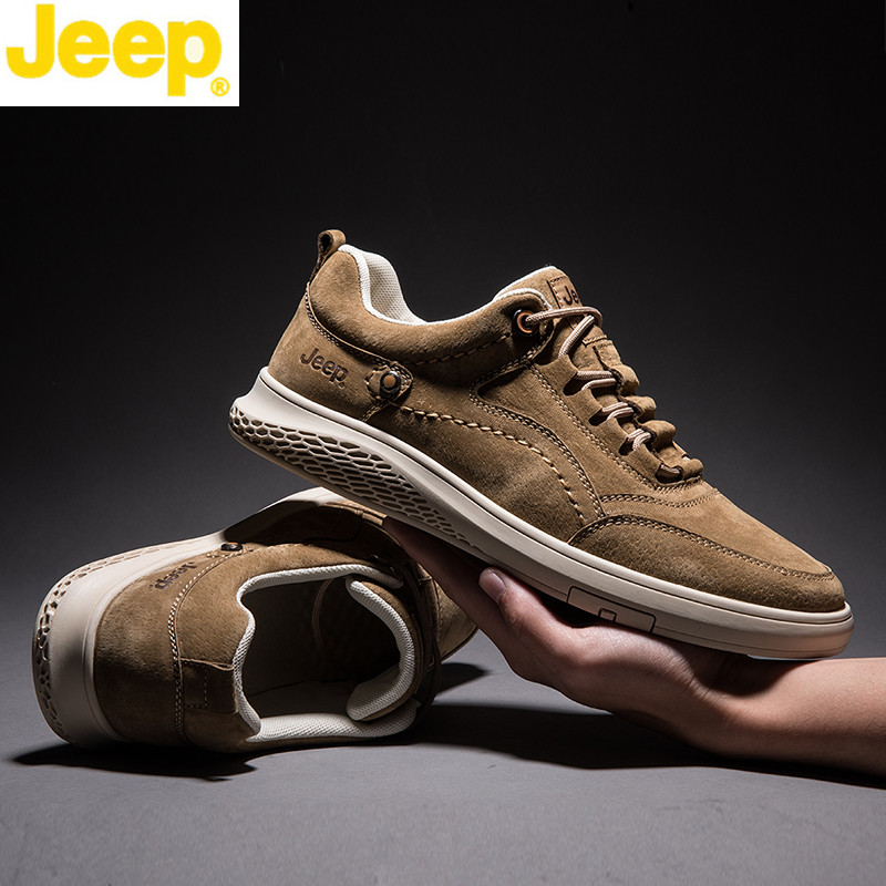 Jeep / Jeep board shoes men's spring new low top antiskid tourist shoes Korean Trend Sports outdoor leisure men's shoes
