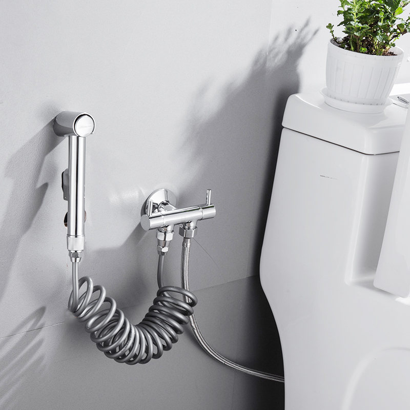 Submarine toilet spray gun companion set toilet flushing booster hose spray gun head of woman washer
