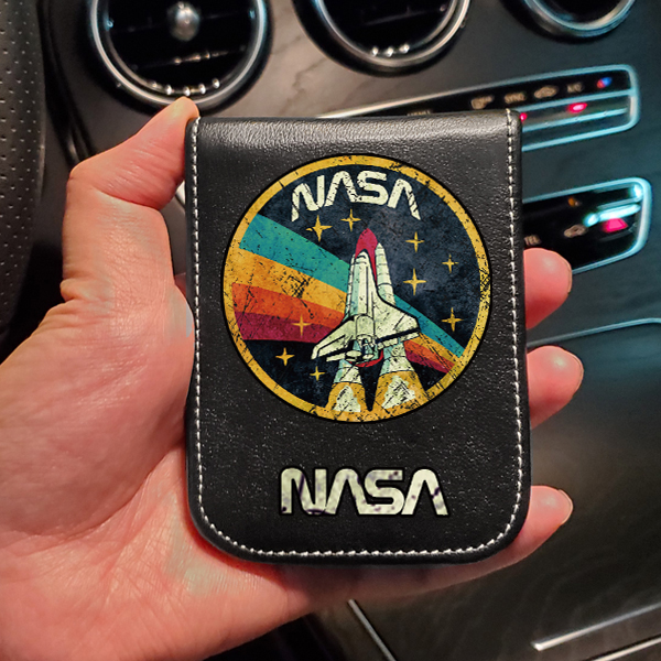 NASA NASA Personality Creative Driver's License Leather Cover Two in One True Leather Carpet for Men and Women