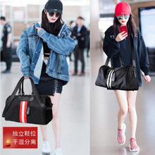 Red bag woman in Europe and the hand of the bill of lading shoulder light excursion boarding package mass fitness duffel bag