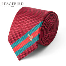 Shopping mall same bird, men's wear new wine red wedding groom fashion necktie tide B1YC83116