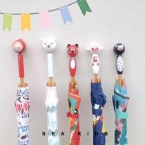 Spot France vilac enfants de bande dessinée en bois à long manche parasol importé parapluie peint lumière peu rouge