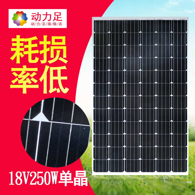 Dynamic foot solar panel 250W Grid-connected solar panels Photovoltaic modules Household outdoor panels Power generation