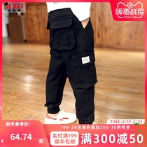 Boys pants spring and autumn childrens trousers wear childrens clothing 2019 new tide overalls childrens casual pants spring