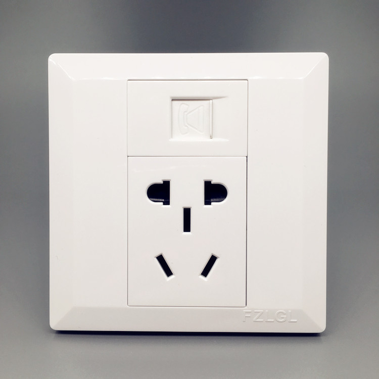 Telephone + five holes two or three power sockets Two telephone plus national holes five 10A panel switch concealed 86