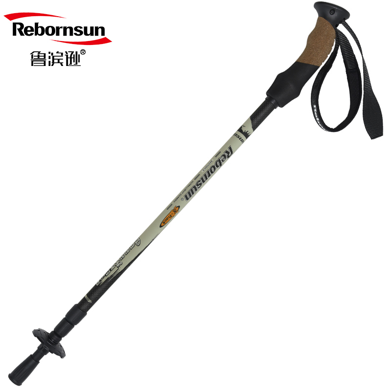 Robinson Mountaineering Cane Everest Ultra Light Crutch Outdoor Equipment Cane Carbon Fiber Mountaineering Cane