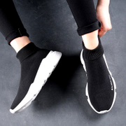 UGA stretch socks shoes high shoes shoes plus socks lovers in autumn and winter men's cashmere shoes casual shoes shoes