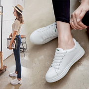 The trend of 2017 Korean bird low shallow mouth white shoe female flat round breathable flat with the casual shoes