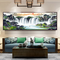 Landscape Painting Fengshui Receives Money by Landscape Living Room Decoration Painting Sofa Background Wall Painting Office Hanging Chinese Painting Ink