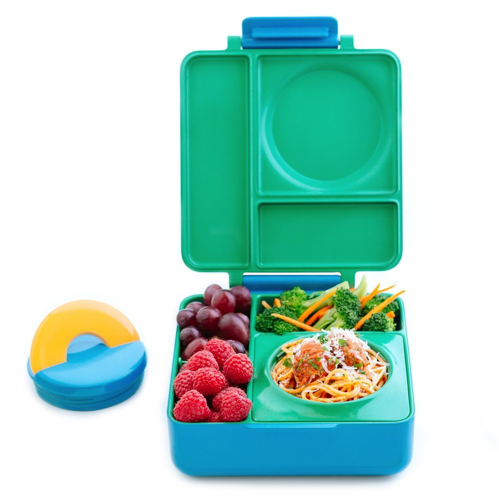 US OMIE baby children portable leak-proof gridded soup porridge stainless steel insulated lunch box lunch box
