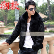 Male rabbit fur coat leather fur Mens thickened fox fur collar special offer.