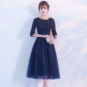 2017 new winter banquet evening dress dignified atmosphere in the long years party dress dress female