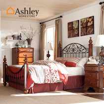 Ashley Love Room Beauty American Princess Iron 牀 1.5m 1.8 double iron 牀 bed B5429