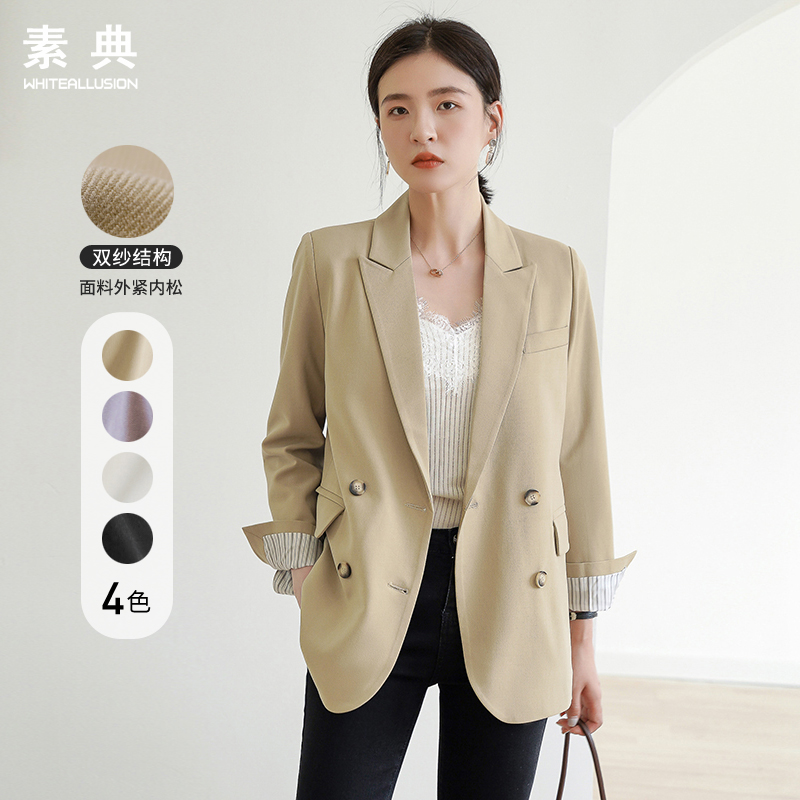 Small blazer women 2021 new spring and autumn temperament Korean British style casual design sense loose net red suit