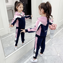 Childrens clothing girls spring set 2020 new spring and autumn net Red Girl sports in the Big childrens fashionable tide