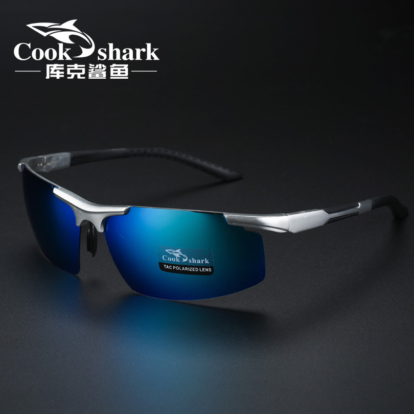 Cookshark / Cook shark male sunglasses polarized driving glasses sunglasses special fishing mirror HD watch drift