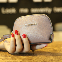 19.9 包邮 the first layer of cowhide wallet woman shell hand holding leather small wallet mini key bag coin bag female