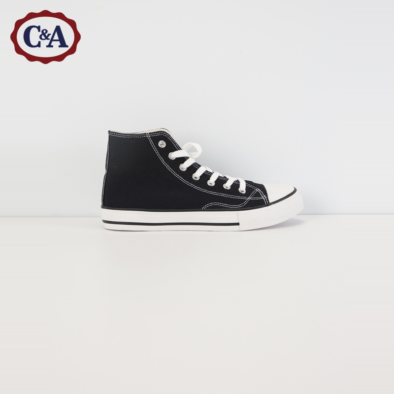 C & a leisure lace up trend high top canvas shoes female students 2020 spring new sneakers ca200224366