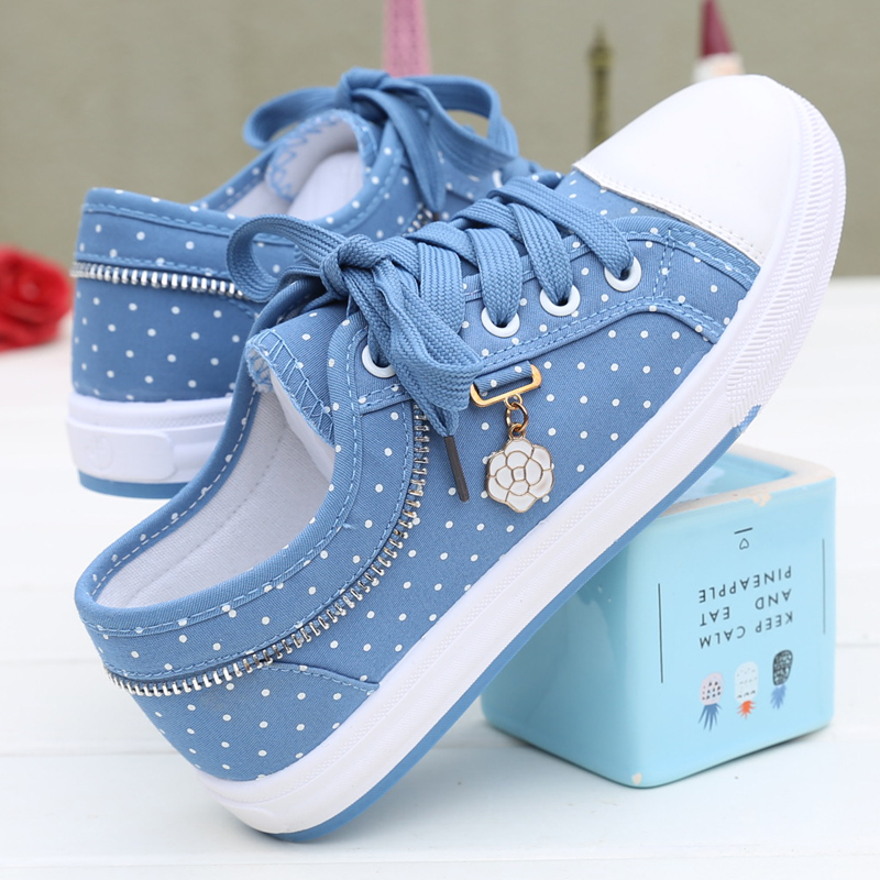 Shoes female 2018 new Korean version of the wild canvas shoes female autumn flat shoes women's fashion sports shoes
