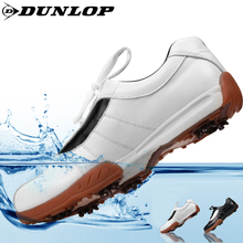 DuNLOP official genuine golf shoes men's cowhide Golf breathable wear-resistant golf shoes