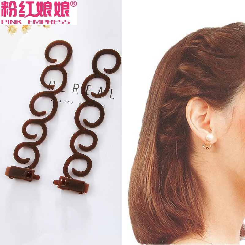 Korean Edition Jewelry New Hair Ornament Braided Hair Card Ball Head Disk Hair Bar Woman Hair Knitter Hair Tool Headwear