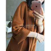 Three crown feedback scarce goods! A new realm of cattle cargo! Ripple pure cashmere robe double coat female hand