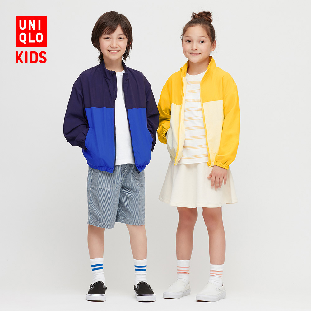 Children's / boy's / girl's color blocking coat 423279 UNIQLO