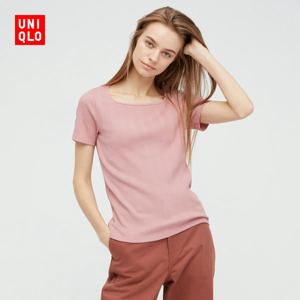 Uniqlo Womens 337592 with a long-sleeved T-shirt (Uniqlo Good T).