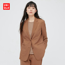 UNIQLO Womens Linen Blend Casual Suit (Spring and summer coat Commuter) 433646 UNIQLO