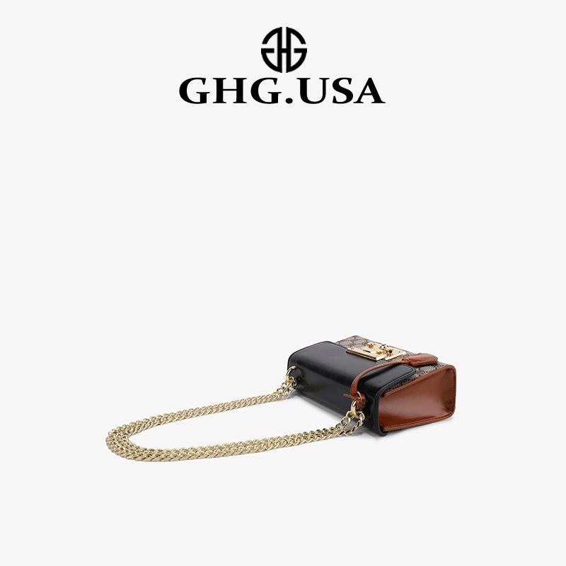 Hong Kong purchasing GHG classic PADROCK printed small square bag female 2020 big-name luxury chain messenger bag