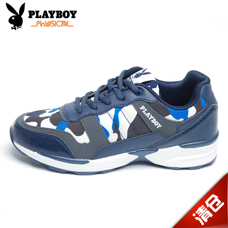 PLAYBOY/Playboy children's shoes authentic ladies casual shoes running shoes lace camouflage shoes women