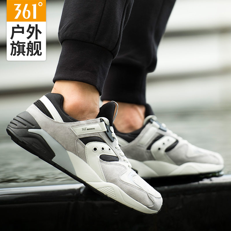 361 men's shoes retro shoes panda shoes authentic spring anti-suede shock absorber sneakers men's 361 degree Forrest Gump running shoes