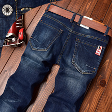 Men's 2020 autumn new JEANS jeans men's autumn and winter loose straight stretch Korean long pants
