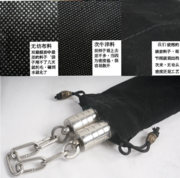 A set of actual two section stick nunchaku bag can be customized woven label type double nunchaku flocking fabric