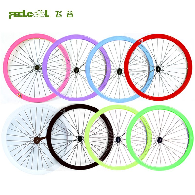 26-inch retro-dead flywheel set 700Cx23 reverse brake ride double-flying front and rear wheel 40MM ring concessions