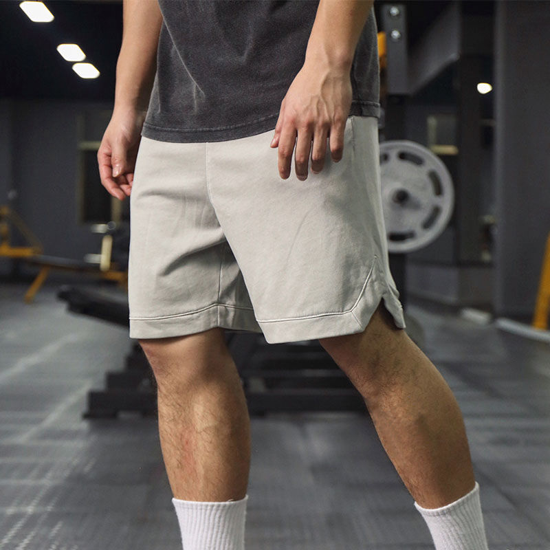 Shorts mens trendy fitness sports five-point pants summer breathable elastic loose running casual training to do old five-point pants