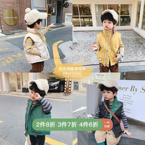 ivan family childrens clothing 2019 winter clothing new childrens cotton vest men and women on both sides of the baby wear cotton vest boys tide