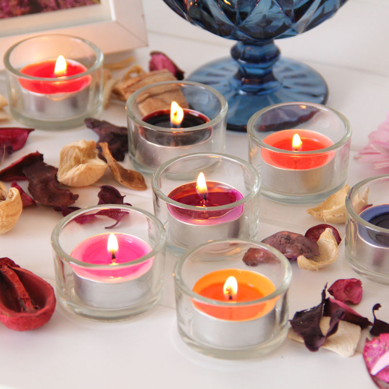 Valentines Day glass candle scented candle windproof cup set transparent European brewed tea simple modern romantic ideas