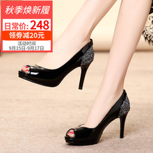 Autumn High-heeled Women Fine-heeled Summer 2019 New Korean Version Baitao Waterproof Table Single Shoe Fishmouth Spring Shoe Women