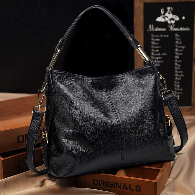 Shoulder bag handbag leather bag 2018 autumn and winter new Korean version of the simple tide female handbag Messenger bag female big bag