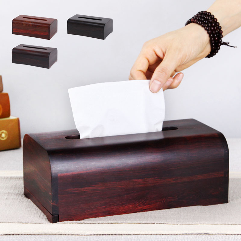 Rosewood crafts paper towel boxes desktop living room home drawer box rosewood smooth napkin boxes